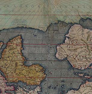 Détail de la carte ancienne après restauration