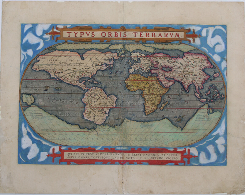 carte ancienne après restauration.