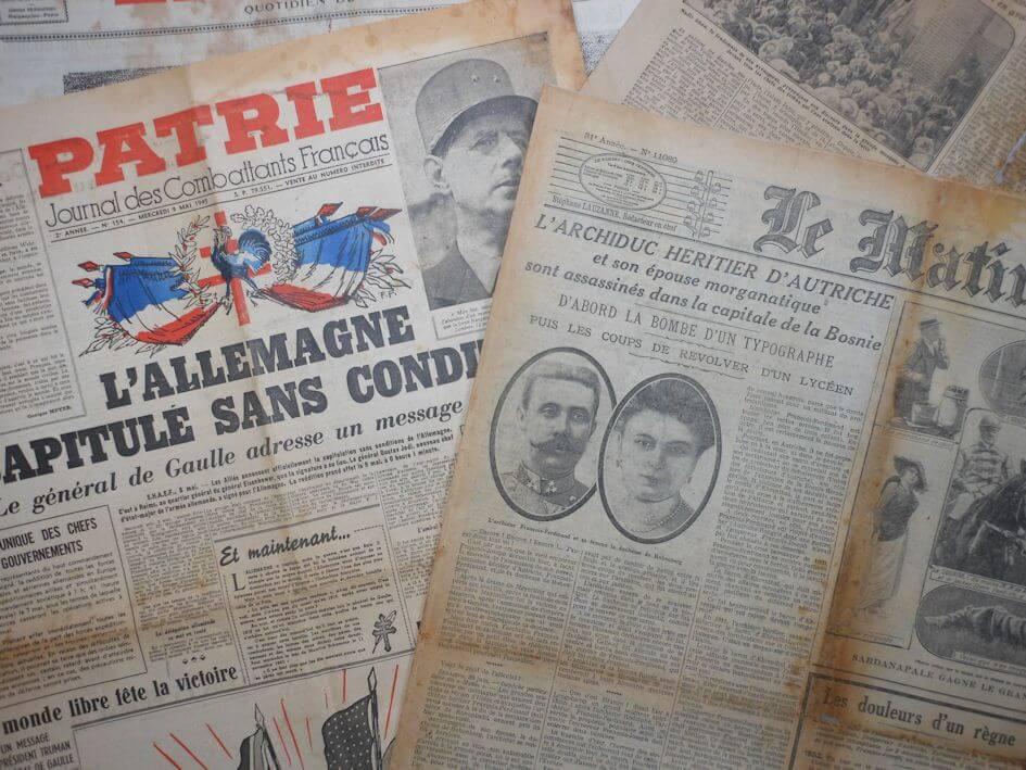 restauration de journaux