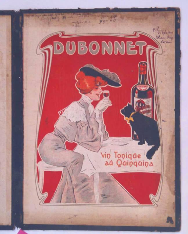 publicité 1900 avant restauration. Lithographie