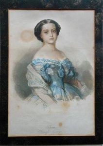 Atelier de restauration de documents d'arts graphiques, aquarelle de Winterhalter