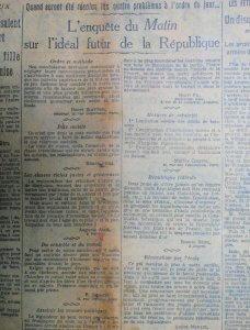 restauration d'un journal, doublage au papier japon 6gr