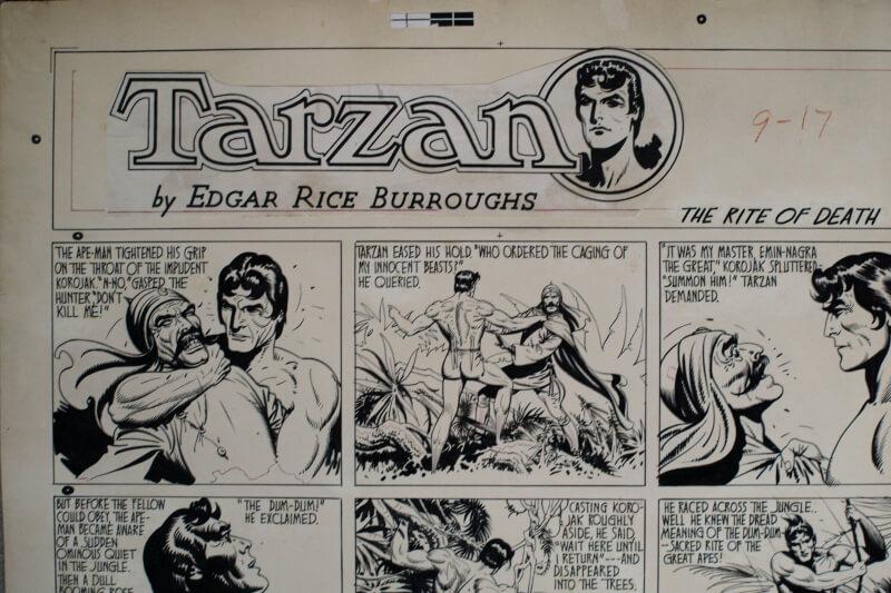 Détail, bande dessinée après restauration