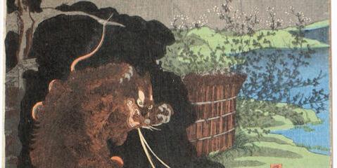Mise à plat et restauration d'une estampe japonaise