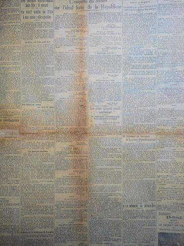 Doublage de journaux. Restauration d'arch