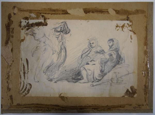 restauration d'un dessin au crayon, mine de plomb, sur papier du 19ème siècle