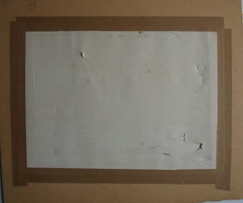 Restaurateur de documents sur papier : gouache de Rouault