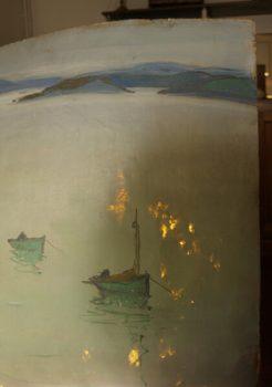 Détail de l'huile sur table lumineuse