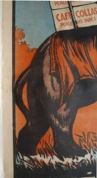 restauration des affiches lithographiques ou sérigraphiques.