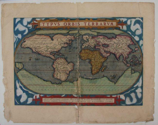 Carte extraite du Theatrum Orbis Terrarum avant restauration