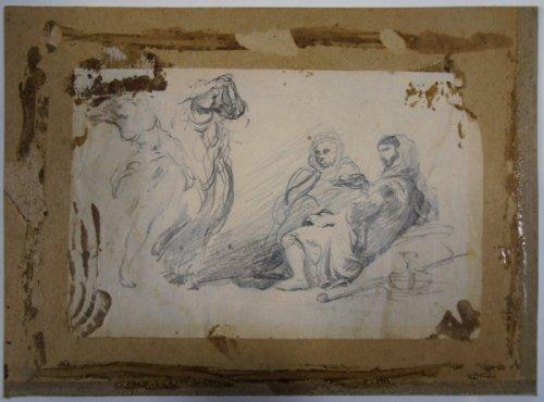 Dédollage et restauration d'un dessin de Delacroix ?