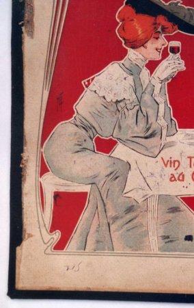 Publicité pour la marque Dubonnet avant restauration