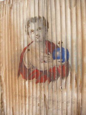 Image changeante faite à partir de deux eaux-fortes aquarellée.
