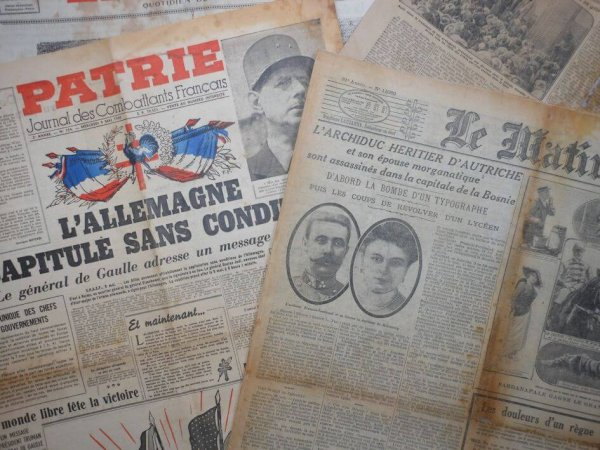 Restauration de vieux papiers, archives, vieux journaux