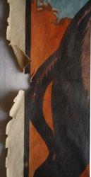 Lacune dans l'affiche avant restauration