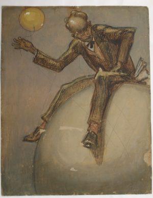 Verso de cette oeuvre de Cornélius peinte des deux cotés d'un même carton.